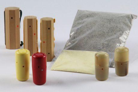 Pulver und Behälter